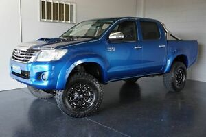 2012 Toyota Hilux KUN26R MY12 SR5 (4x4) Blue 5 Speed Manual Dual Cab Pick-up Woodridge Logan Area Preview