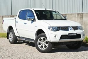 2014 Mitsubishi Triton MN MY15 GLX-R Double Cab White 5 Speed Sports Automatic Utility Wyong Wyong Area Preview