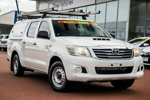 2013 Toyota Hilux KUN16R MY12 SR Double Cab 4x2 Glacier White 5 Speed Manual Utility
