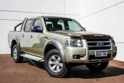 2008 Ford Ranger PJ XLT Crew Cab Gold 5 Speed Automatic Utility Maddington Gosnells Area Preview