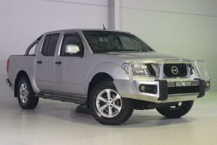 2013 Nissan Navara D40 S6 MY12 ST Silver 6 Speed Manual Utility