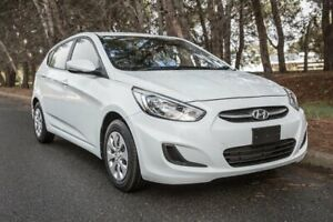 2014 Hyundai Accent RB2 MY15 Active White 4 Speed Sports Automatic Hatchback Reynella Morphett Vale Area Preview
