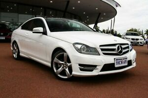 2014 Mercedes-Benz C-Class C204 MY14 C250 CDI 7G-Tronic White 7 Speed Sports Automatic Coupe Wangara Wanneroo Area Preview
