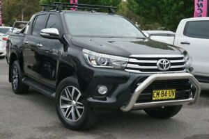2017 Toyota Hilux GUN126R SR5 Double Cab Black 6 Speed Sports Automatic Utility Phillip Woden Valley Preview