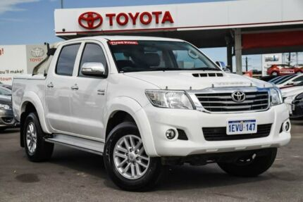 2015 Toyota Hilux KUN26R MY14 SR5 Double Cab Glacier White 5 Speed Automatic Utility Osborne Park Stirling Area Preview