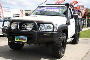 2010 Nissan Patrol GU 6 MY10 DX White 5 Speed Manual Cab Chassis Altona North Hobsons Bay Area Preview