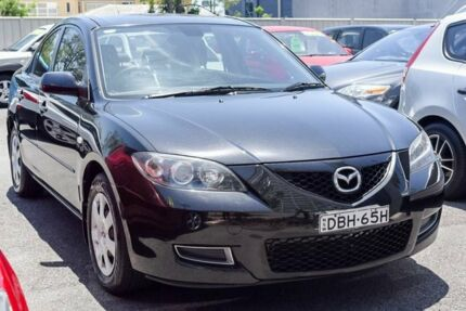 2008 Mazda 3 BK10F2 Neo Black 4 Speed Sports Automatic Sedan Main Beach Gold Coast City Preview