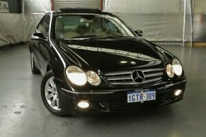 2008 Mercedes-Benz CLK200 Kompressor A209 MY08 Avantgarde Obsidian Black Metallic 5 Speed Automatic