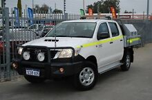 2013 Toyota Hilux KUN26R MY12 SR (4x4) White 5 Speed Manual Dual Cab Pick-up Maddington Gosnells Area Preview