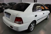 2002 Hyundai Accent LC GL White 4 Speed Automatic Hatchback Victoria Park Victoria Park Area Preview