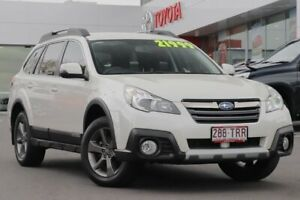 2014 Subaru Outback B5A MY14 2.5i Lineartronic AWD Premium White 6 Speed Constant Variable Wagon Woolloongabba Brisbane South West Preview