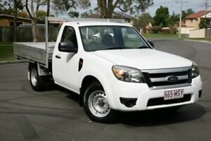 2009 Ford Ranger PJ XL 4x2 White 5 Speed Manual Cab Chassis