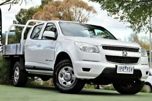 2013 Holden Colorado RG MY13 LX Crew Cab 4x2 White 6 Speed Sports Automatic Cab Chassis Berwick Casey Area Preview
