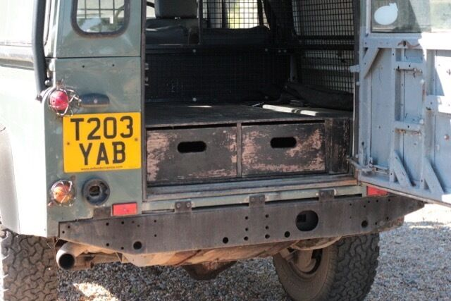 Land Rover Custom Rear Storage Drawers Defender 110 90