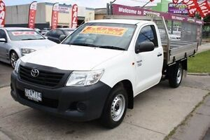 2012 Toyota Hilux TGN16R MY12 Workmate White 5 Speed Manual Cab Chassis Altona North Hobsons Bay Area Preview