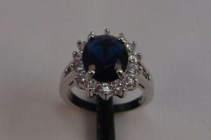 10K Gold Filled Blue Sapphire Rings - NEW
