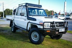 2015 Toyota Landcruiser VDJ79R Workmate Double Cab White 5 Speed Manual Cab Chassis Wangara Wanneroo Area Preview