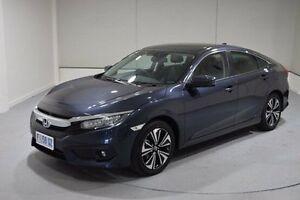 2016 Honda Civic 10th Gen MY16 VTI-LX Blue 1 Speed Constant Variable Sedan Invermay Launceston Area Preview