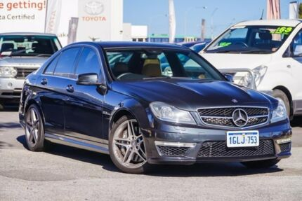 2013 Mercedes-Benz C63 W204 MY13 AMG Black 7 Speed Automatic G-Tronic Sedan Glendalough Stirling Area Preview