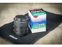 Kenko extension tube set for Nikon lenses