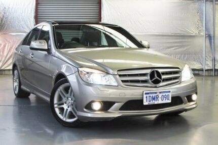 2008 Mercedes-Benz C280 W204 Avantgarde Palladium Silver 7 Speed Sports Automatic Sedan Myaree Melville Area Preview