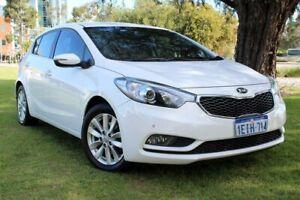 2013 Kia Cerato YD MY14 SI White 6 Speed Sports Automatic Hatchback Victoria Park Victoria Park Area Preview