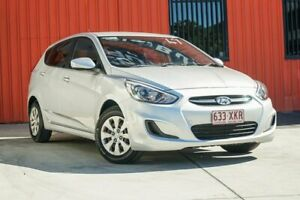 2015 Hyundai Accent RB3 MY16 Active Silver 6 Speed Constant Variable Hatchback Molendinar Gold Coast City Preview