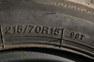 Ice Blazer Winter Tires 215/70R15 - set of 4 on Steel Rims Gatineau Ottawa / Gatineau Area image 1