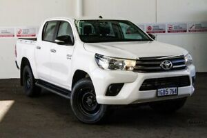 2016 Toyota Hilux GUN126R SR (4x4) Glacier White 6 Speed Automatic Dual Cab Utility Rockingham Rockingham Area Preview