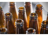 Looking for - empty beer bottles