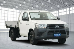 2017 Toyota Hilux TGN121R Workmate 4x2 White 6 Speed Sports Automatic Cab Chassis Victoria Park Victoria Park Area Preview