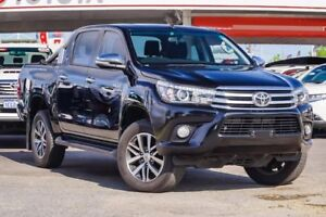 2016 Toyota Hilux GUN126R SR5 Double Cab Eclipse Black 6 Speed Sports Automatic Utility