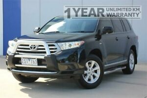 2013 Toyota Kluger GSU40R MY13 Upgrade KX-R (FWD) 7 Seat Black 5 Speed Automatic Wagon Carrum Downs Frankston Area Preview