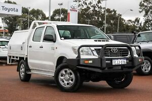 2012 Toyota Hilux KUN26R MY12 SR Double Cab White 5 Speed Manual Cab Chassis Westminster Stirling Area Preview