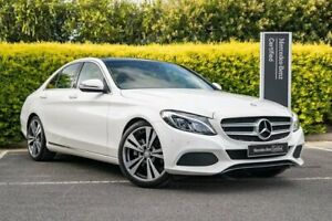 2015 Mercedes-Benz C-Class W205 806MY C200 7G-Tronic + White 7 Speed Sports Automatic Sedan Narre Warren Casey Area Preview