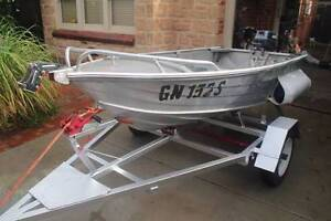 3.1m SeaBird Tinny with 8hp Yamaha, trailer and Rhino Boat Loader Plympton West Torrens Area Preview