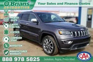 2018 Jeep Grand Cherokee Limited w/4x4, Navigation, Leather