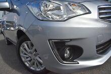 2015 Mitsubishi Mirage LA MY15 ES Silver 1 Speed Constant Variable Sedan Willagee Melville Area Preview