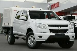 2013 Holden Colorado RG MY14 LX Crew Cab 4x2 White 6 Speed Sports Automatic Cab Chassis Woolloongabba Brisbane South West Preview
