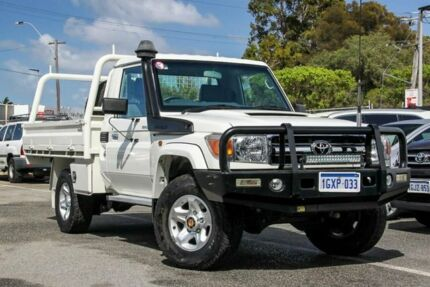 2016 Toyota Landcruiser White Manual Cab Chassis Welshpool Canning Area Preview