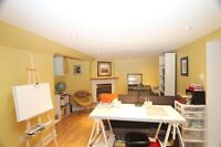 One bdrm, bright basement apt in stately home in RONCESVALLES