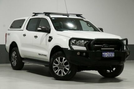 2016 Ford Ranger PX MkII Wildtrak 3.2 (4x4) White 6 Speed Automatic Dual Cab Pick-up Bentley Canning Area Preview