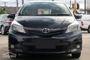 2012 Toyota Yaris NCP131R YRX Black 4 Speed Automatic Hatchback