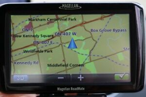 "Gps Magellan Roadmate 5045-LM large 5 ¼"" with charger, updated n"