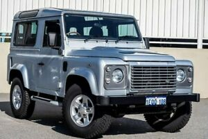 2014 Land Rover Defender 90 15MY 90 15MY WAGON 3DR MAN 6SP 4X4 935KG 2.2DT Indus Silver Manual Wagon Cannington Canning Area Preview