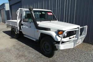 2003 Toyota Landcruiser HDJ79R (4x4) White 5 Speed Manual 4x4 Huntfield Heights Morphett Vale Area Preview