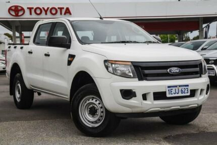 2013 Ford Ranger PX XL 2.2 HI-Rider (4x2) Cool White 6 Speed Manual Crew Cab Pickup Osborne Park Stirling Area Preview
