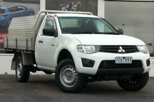 2014 Mitsubishi Triton MN MY15 GL 4x2 White 5 Speed Manual Cab Chassis Ferntree Gully Knox Area Preview