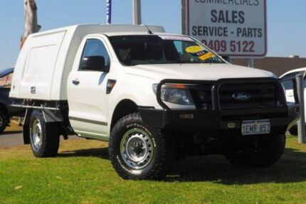 2013 Ford Ranger PX XL White 6 Speed Manual Cab Chassis Wangara Wanneroo Area Preview