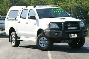 2007 Toyota Hilux KUN26R MY07 SR White 5 Speed Manual Utility Bungalow Cairns City Preview